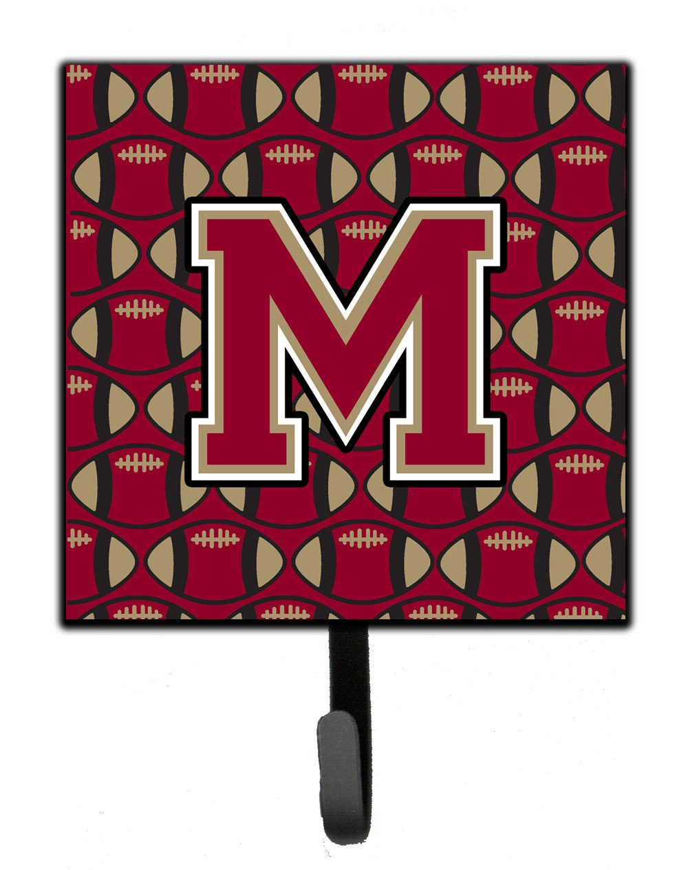 Letter M Football Garnet and Gold Leash or Key Holder CJ1078-MSH4 by Caroline's Treasures