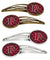 Buy this Letter P Football Garnet and Gold Set of 4 Barrettes Hair Clips