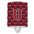 Buy this Letter U Football Garnet and Gold Ceramic Night Light CJ1078-UCNL