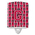 Buy this Letter G Football Crimson and White Ceramic Night Light CJ1079-GCNL