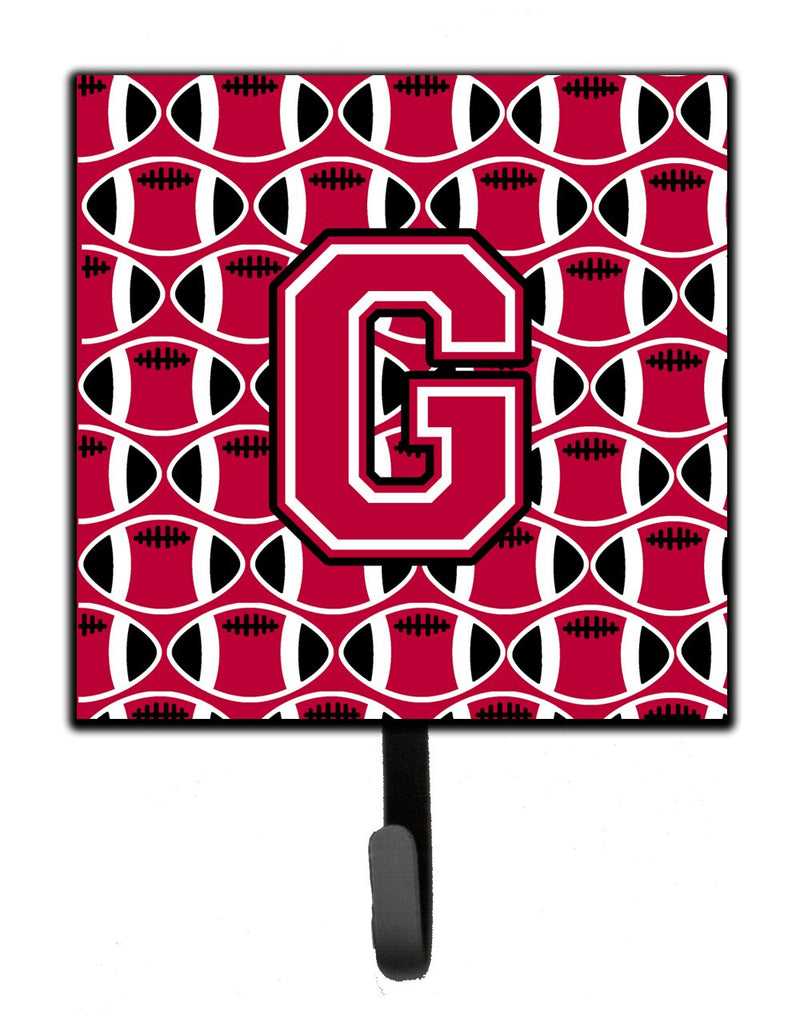 Buy this Letter G Football Crimson and White Leash or Key Holder CJ1079-GSH4