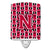 Buy this Letter N Football Crimson and White Ceramic Night Light CJ1079-NCNL