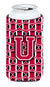 Buy this Letter U Football Crimson and White Tall Boy Beverage Insulator Hugger CJ1079-UTBC