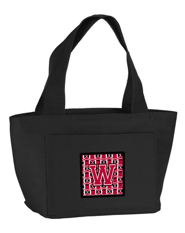 Buy this Letter W Football Crimson and White Lunch Bag CJ1079-WBK-8808