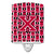 Buy this Letter X Football Crimson and White Ceramic Night Light CJ1079-XCNL