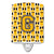 Buy this Letter G Football Black, Old Gold and White Ceramic Night Light CJ1080-GCNL