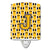 Buy this Letter J Football Black, Old Gold and White Ceramic Night Light CJ1080-JCNL