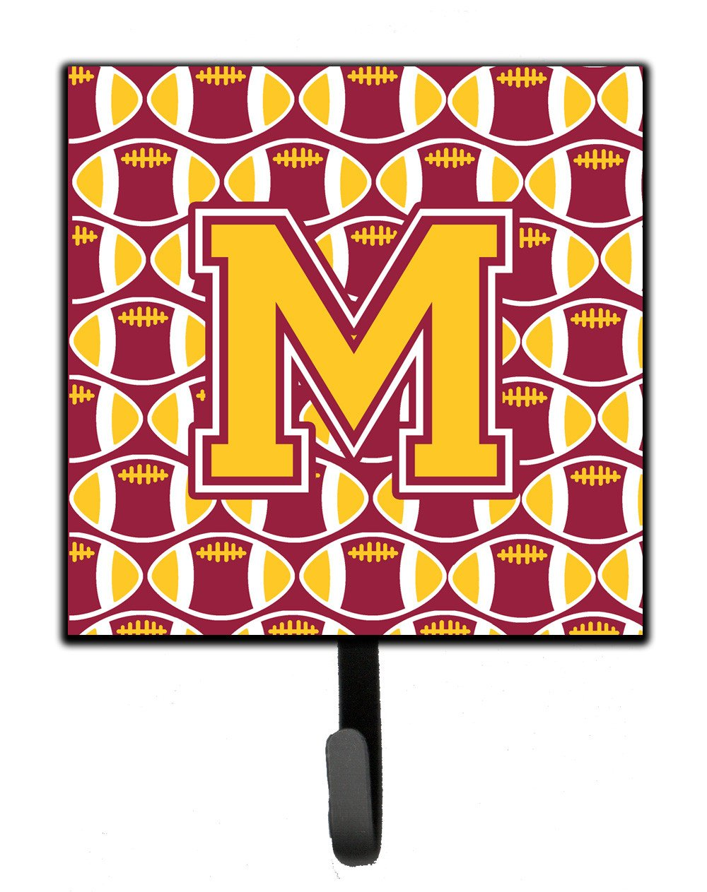 Letter M Football Maroon and Gold Leash or Key Holder CJ1081-MSH4 by Caroline's Treasures