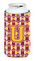 Buy this Letter U Football Maroon and Gold Tall Boy Beverage Insulator Hugger CJ1081-UTBC