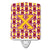 Buy this Letter X Football Maroon and Gold Ceramic Night Light CJ1081-XCNL