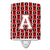 Buy this Letter A Football Cardinal and White Ceramic Night Light CJ1082-ACNL