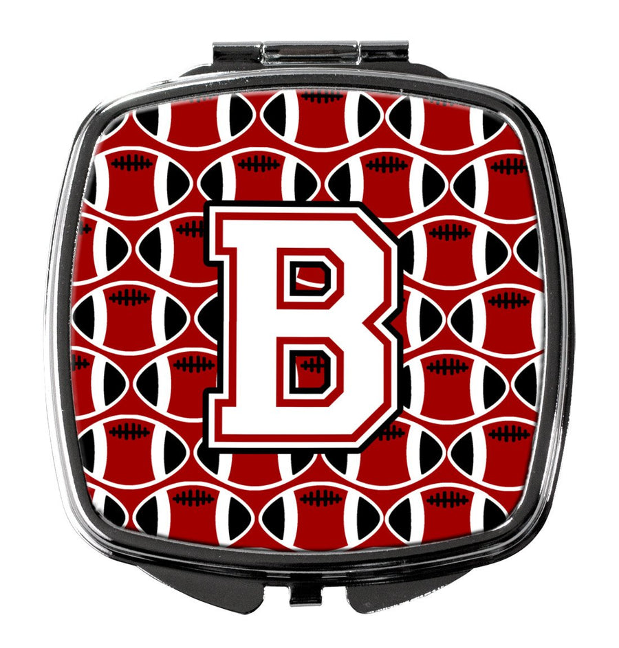 Buy this Letter B Football Cardinal and White Compact Mirror CJ1082-BSCM