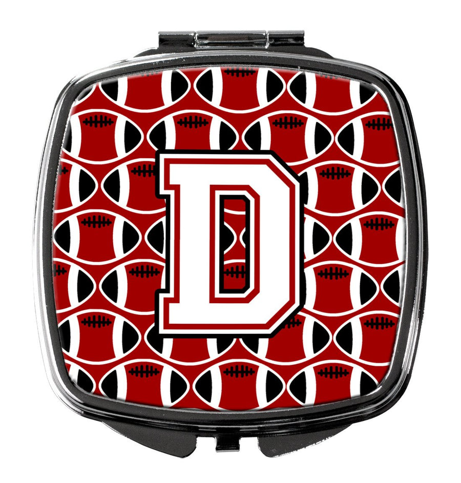 Buy this Letter D Football Cardinal and White Compact Mirror CJ1082-DSCM