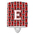 Buy this Letter E Football Cardinal and White Ceramic Night Light CJ1082-ECNL