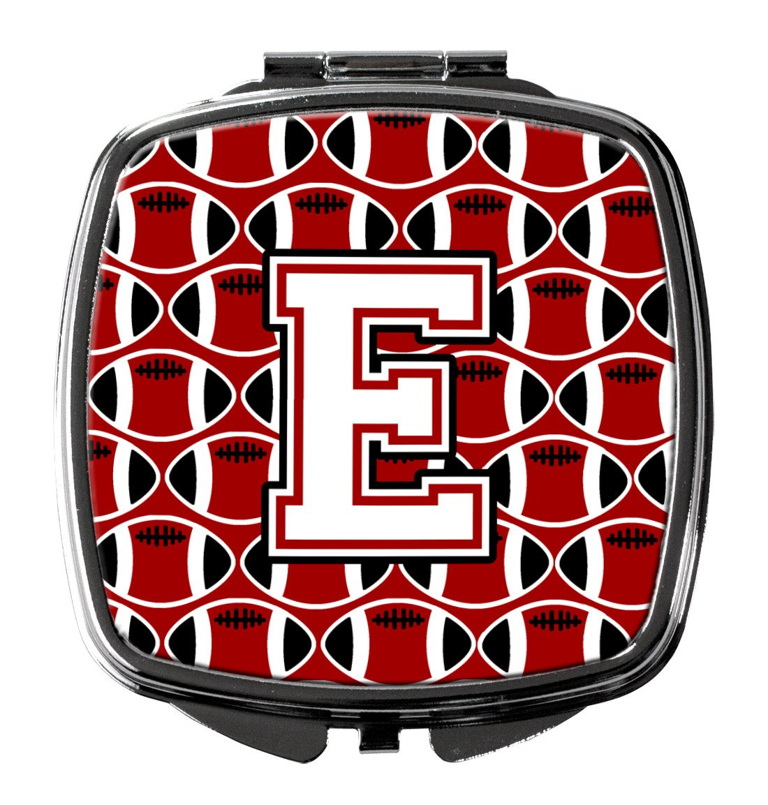 Buy this Letter E Football Cardinal and White Compact Mirror CJ1082-ESCM