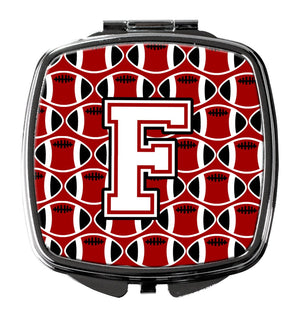 Buy this Letter F Football Cardinal and White Compact Mirror CJ1082-FSCM