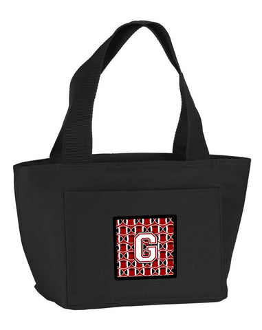 Buy this Letter G Football Cardinal and White Lunch Bag CJ1082-GBK-8808