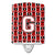 Buy this Letter G Football Cardinal and White Ceramic Night Light CJ1082-GCNL