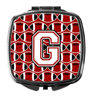 Buy this Letter G Football Cardinal and White Compact Mirror CJ1082-GSCM