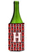 Buy this Letter H Football Cardinal and White Wine Bottle Beverage Insulator Hugger CJ1082-HLITERK