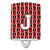 Buy this Letter J Football Cardinal and White Ceramic Night Light CJ1082-JCNL