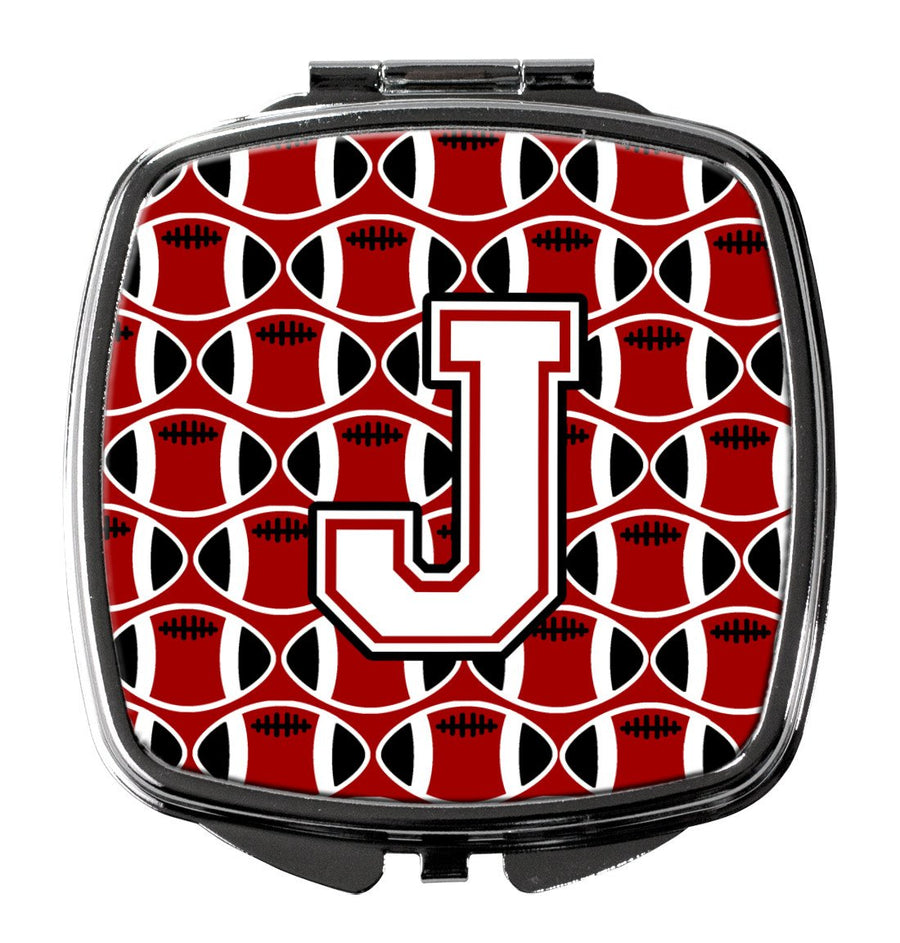 Buy this Letter J Football Cardinal and White Compact Mirror CJ1082-JSCM