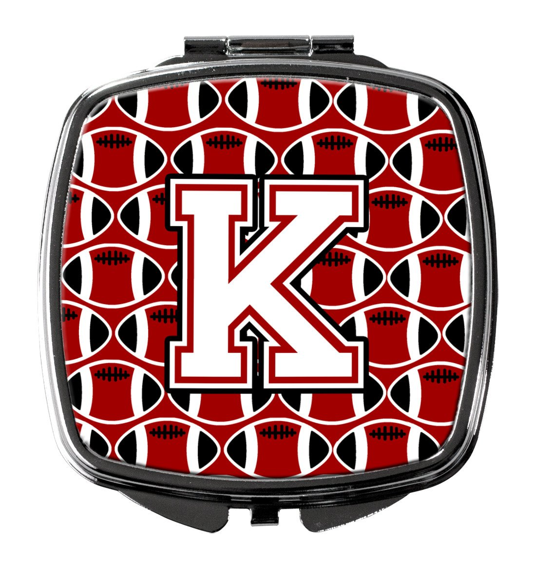 Buy this Letter K Football Cardinal and White Compact Mirror CJ1082-KSCM
