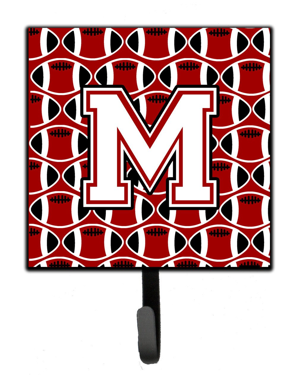 Letter M Football Cardinal and White Leash or Key Holder CJ1082-MSH4 by Caroline's Treasures