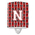 Buy this Letter N Football Cardinal and White Ceramic Night Light CJ1082-NCNL