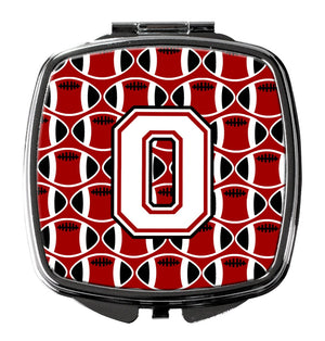 Buy this Letter O Football Cardinal and White Compact Mirror CJ1082-OSCM