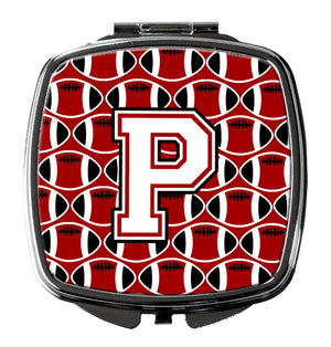Buy this Letter P Football Cardinal and White Compact Mirror CJ1082-PSCM