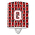 Buy this Letter Q Football Cardinal and White Ceramic Night Light CJ1082-QCNL