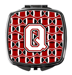 Buy this Letter Q Football Cardinal and White Compact Mirror CJ1082-QSCM