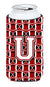 Buy this Letter U Football Cardinal and White Tall Boy Beverage Insulator Hugger CJ1082-UTBC