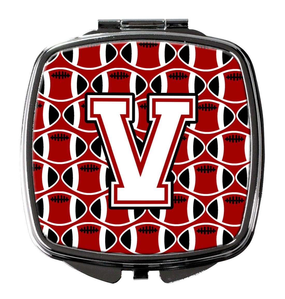 Buy this Letter V Football Cardinal and White Compact Mirror CJ1082-VSCM