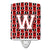 Buy this Letter W Football Cardinal and White Ceramic Night Light CJ1082-WCNL