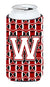 Buy this Letter W Football Cardinal and White Tall Boy Beverage Insulator Hugger CJ1082-WTBC