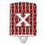 Buy this Letter X Football Cardinal and White Ceramic Night Light CJ1082-XCNL