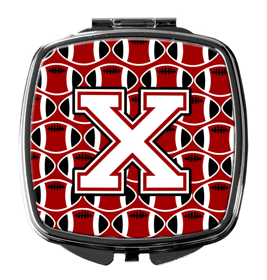 Buy this Letter X Football Cardinal and White Compact Mirror CJ1082-XSCM