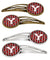 Buy this Letter Y Football Cardinal and White Set of 4 Barrettes Hair Clips CJ1082-YHCS4