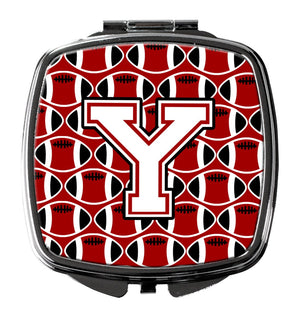 Buy this Letter Y Football Cardinal and White Compact Mirror CJ1082-YSCM