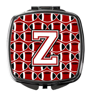 Buy this Letter Z Football Cardinal and White Compact Mirror CJ1082-ZSCM