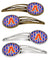 Buy this Letter A Football Green, Blue and Orange Set of 4 Barrettes Hair Clips CJ1083-AHCS4