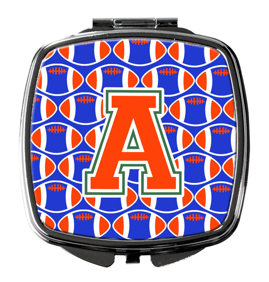 Buy this Letter A Football Green, Blue and Orange Compact Mirror CJ1083-ASCM