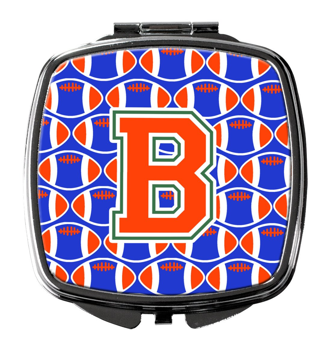 Buy this Letter B Football Green, Blue and Orange Compact Mirror CJ1083-BSCM