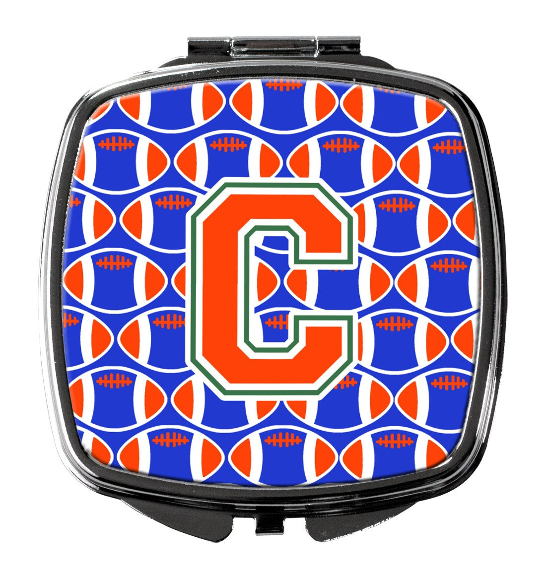 Buy this Letter C Football Green, Blue and Orange Compact Mirror CJ1083-CSCM