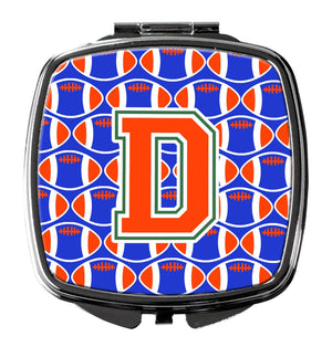Buy this Letter D Football Green, Blue and Orange Compact Mirror CJ1083-DSCM