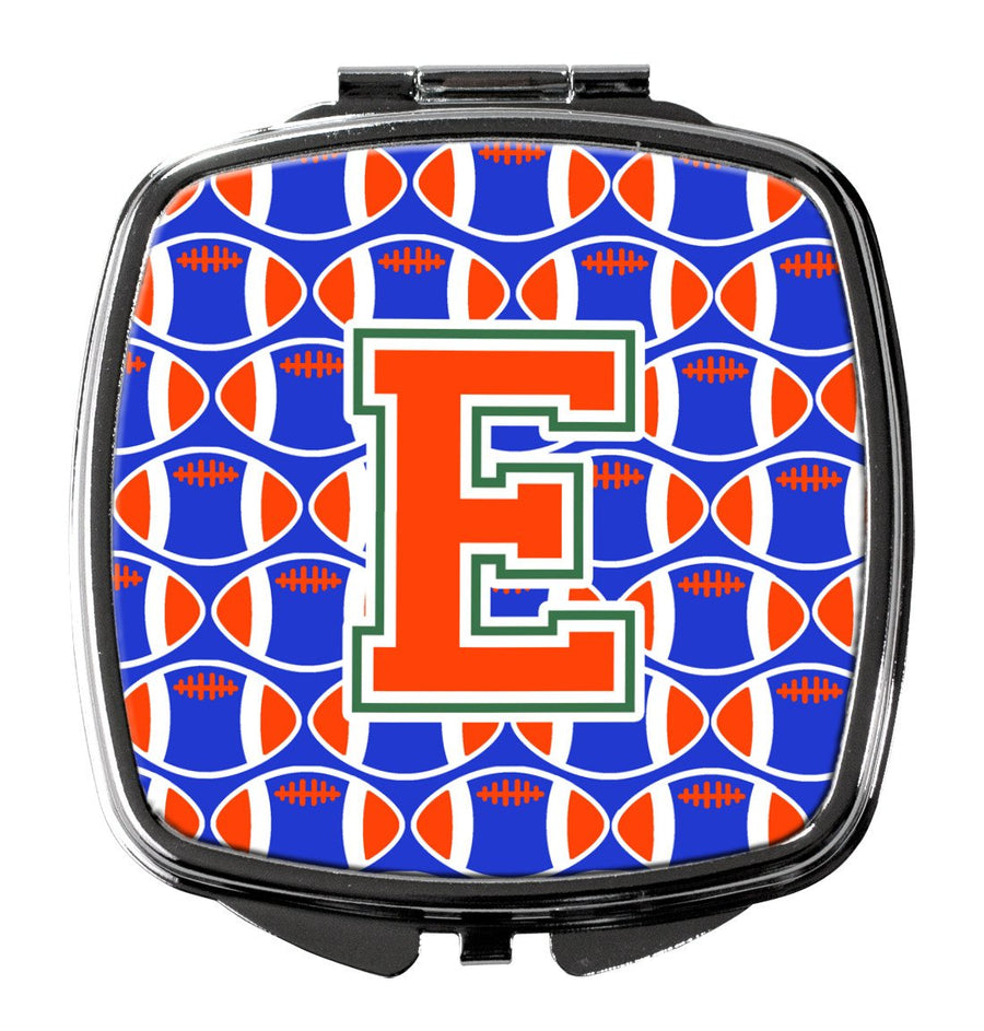 Buy this Letter E Football Green, Blue and Orange Compact Mirror CJ1083-ESCM