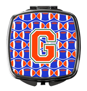 Buy this Letter G Football Green, Blue and Orange Compact Mirror CJ1083-GSCM