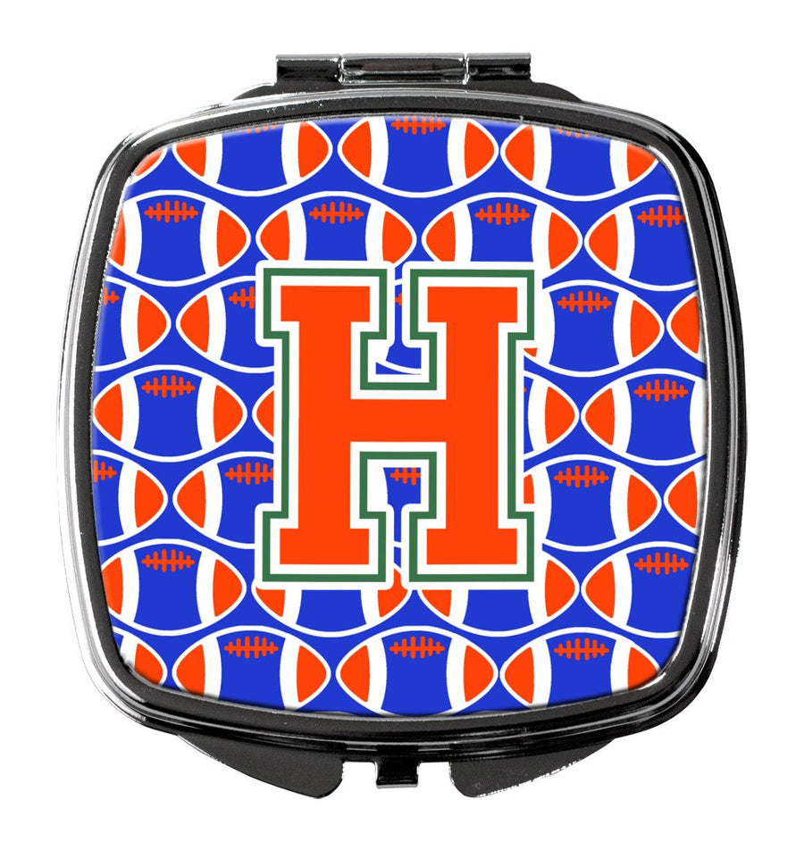 Buy this Letter H Football Green, Blue and Orange Compact Mirror CJ1083-HSCM